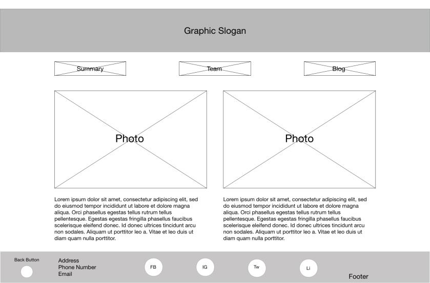 About page - Desktop